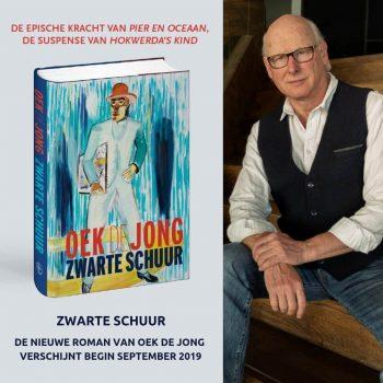 Lezingen en openbare interviews van Oek de Jong over zijn nieuwe roman 'Zwarte schuur'